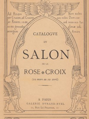 1892 – Parigi – Galleria Durand-Ruel – Catalogue du Salon de la Rose Croix